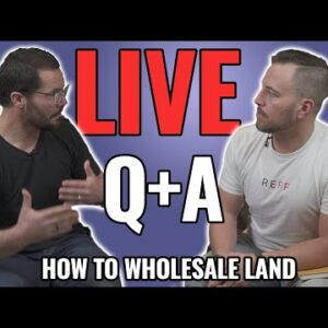 How to Wholesale Land (NOT Houses) – LIVE Q & A